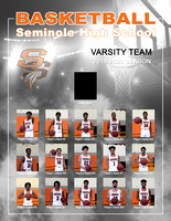 8.5x11 Team Roster - It's Game Time - Basketball Magazine Cover - Player and Action